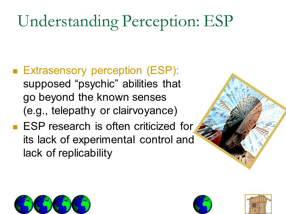 Understanding Perception: ESP