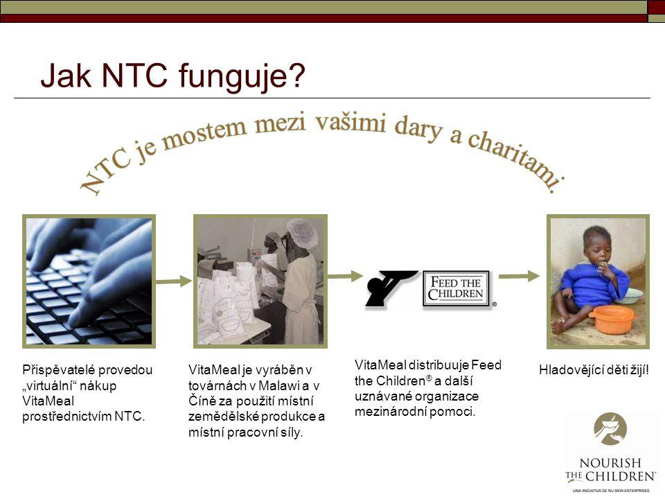 NTC je mostem mezi vašimi dary a charitami.