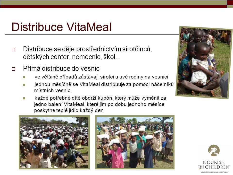 Distribuce VitaMeal Distribuce se děje prostřednictvím sirotčinců, dětských center, nemocnic, škol...
