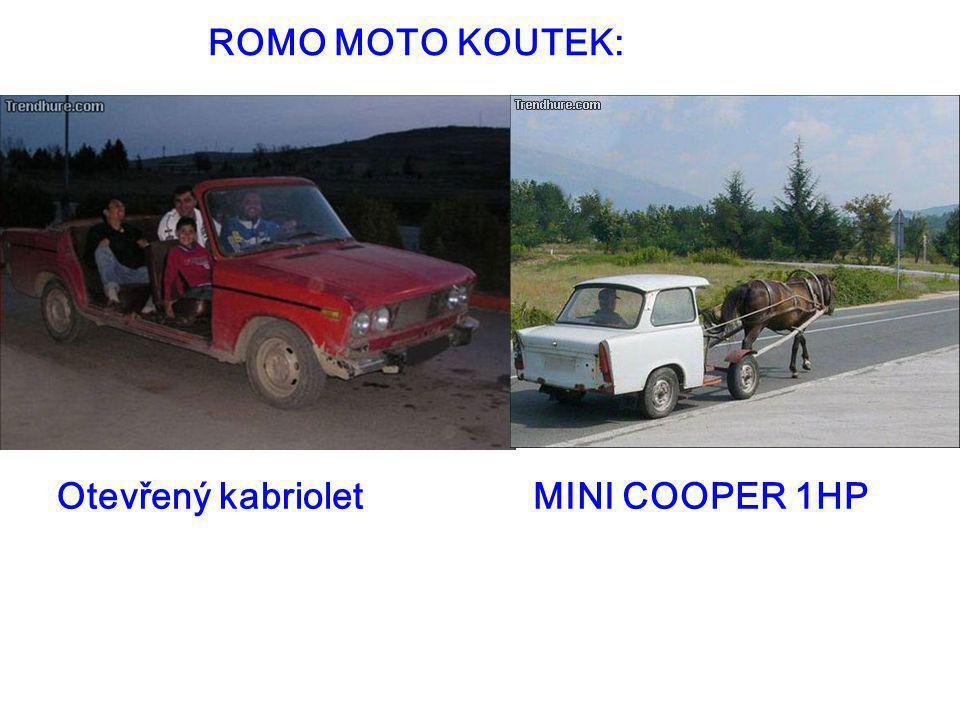 ROMO MOTO KOUTEK: Otevřený kabriolet MINI COOPER 1HP