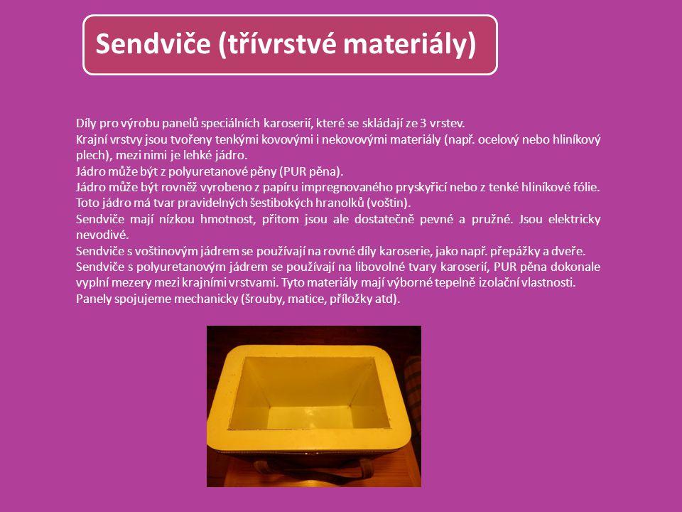 Sendviče (třívrstvé materiály)