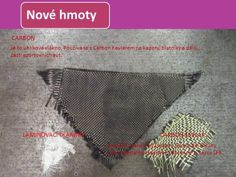 Nové hmoty CARBON LAMINOVACÍ TKANINA CARBON KEVLAR