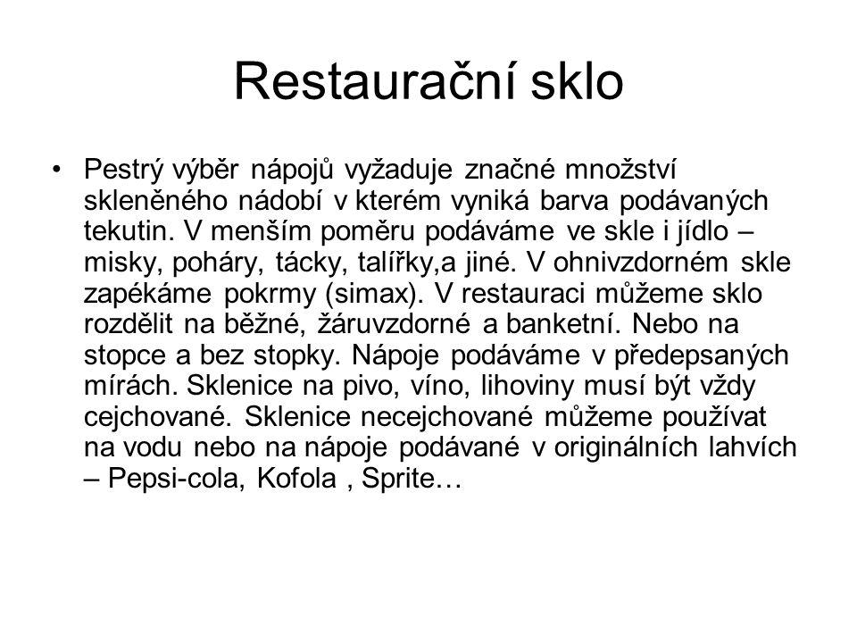Restaurační sklo