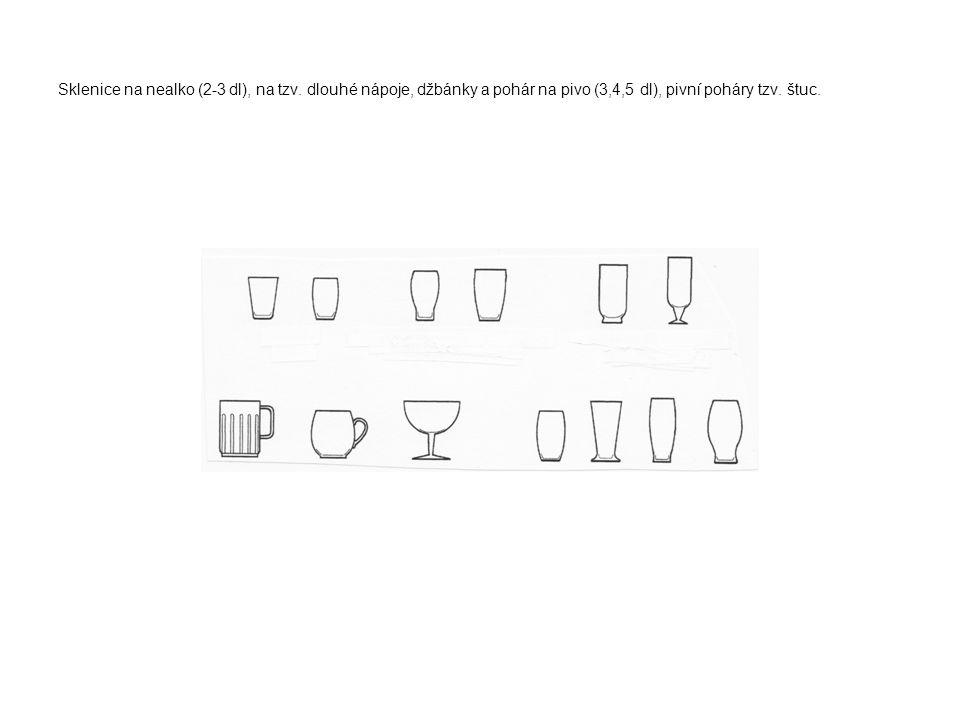 Sklenice na nealko (2-3 dl), na tzv