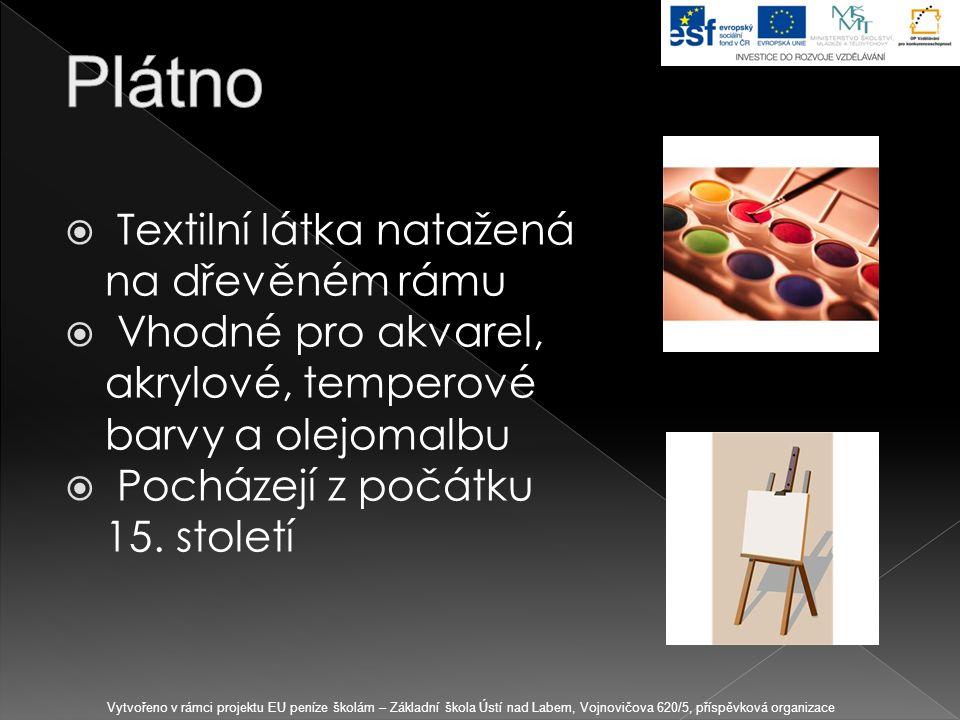 Plátno Textilní látka natažená na dřevěném rámu