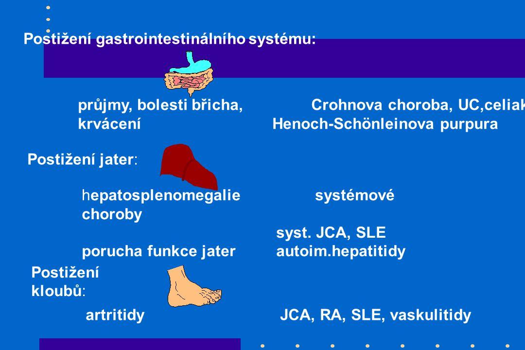 Postižení gastrointestinálního systému: