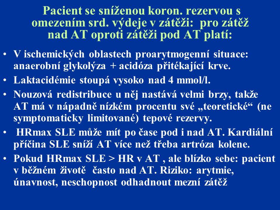 Pacient se sníženou koron. rezervou s omezením srd