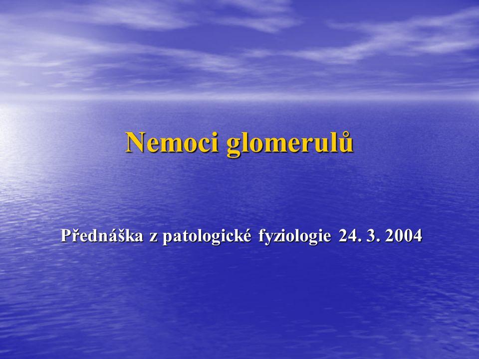 Přednáška z patologické fyziologie 24. 3. 2004