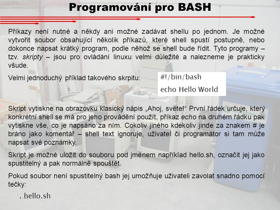 Programování pro BASH