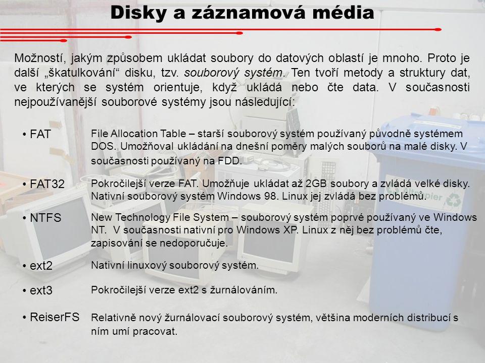 Disky a záznamová média