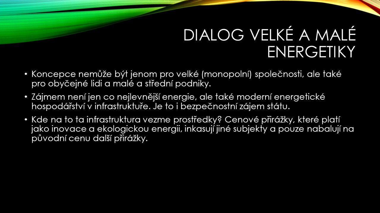 Dialog velké a malé energetiky