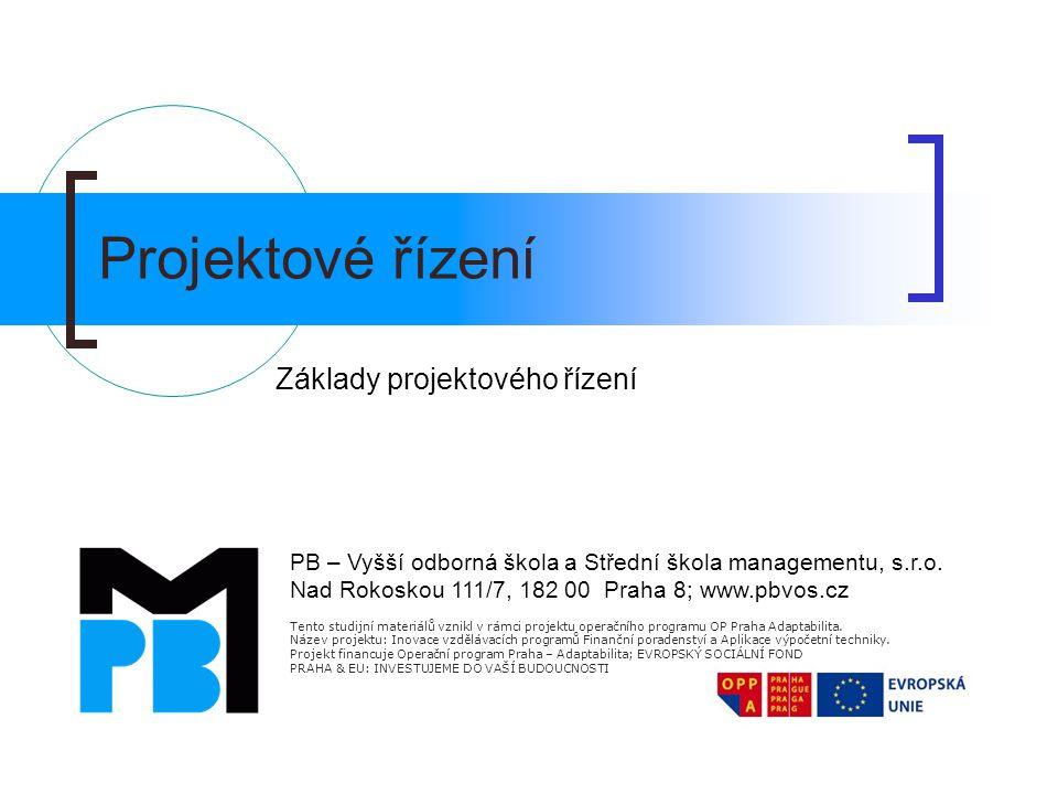 Základy projektového řízení
