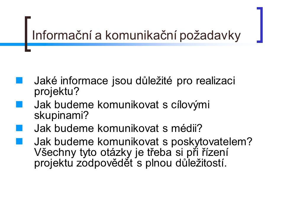 Informační a komunikační požadavky