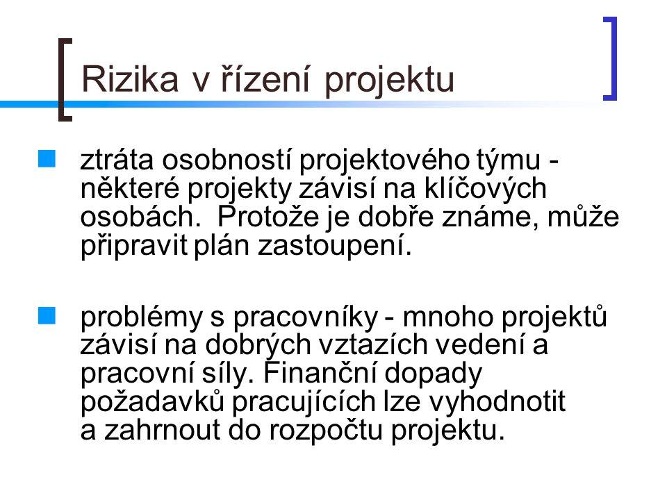 Rizika v řízení projektu