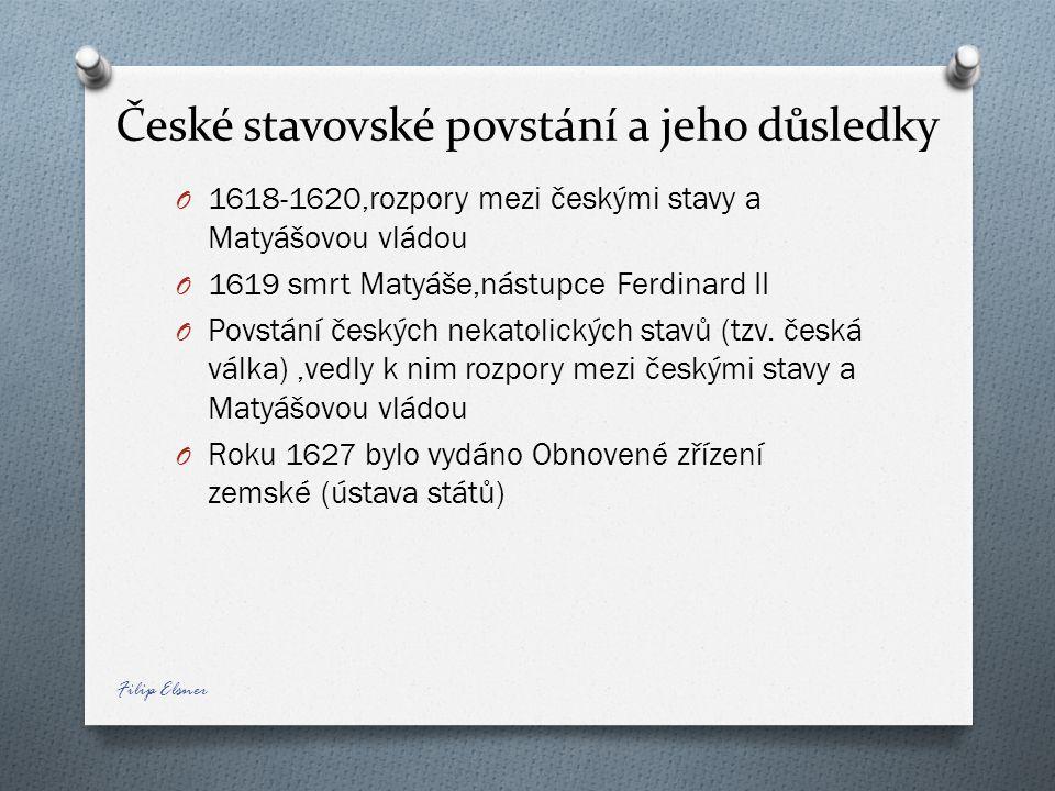 České stavovské povstání a jeho důsledky
