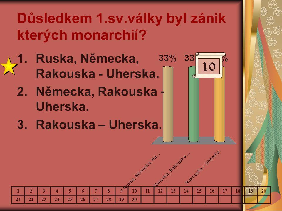 Důsledkem 1.sv.války byl zánik kterých monarchií