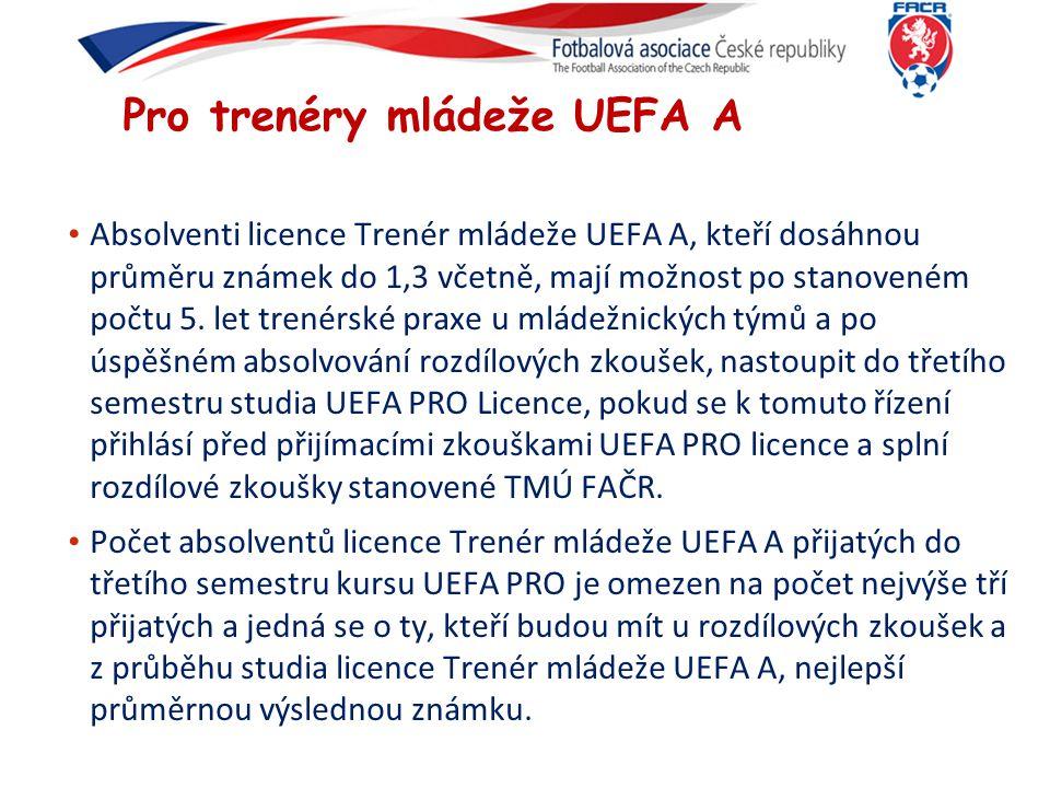 Pro trenéry mládeže UEFA A