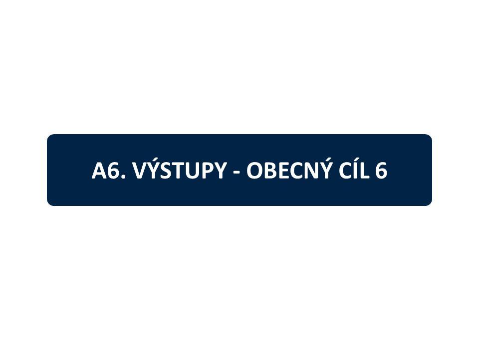 A6. VÝSTUPY - OBECNÝ CÍL 6
