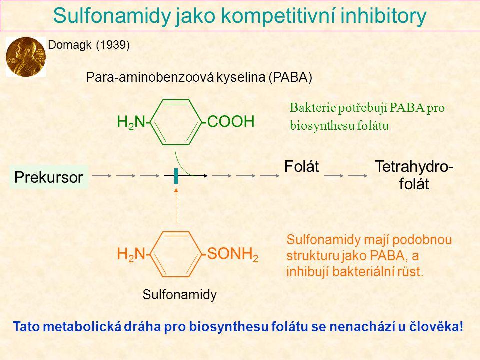 Sulfonamidy jako kompetitivní inhibitory