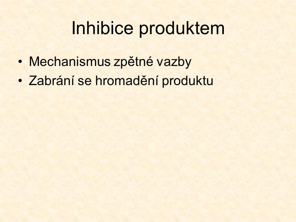 Inhibice produktem Mechanismus zpětné vazby