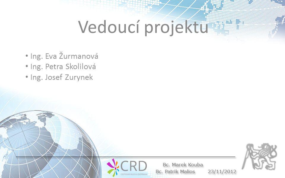 Vedoucí projektu Ing. Eva Žurmanová Ing. Petra Skolilová