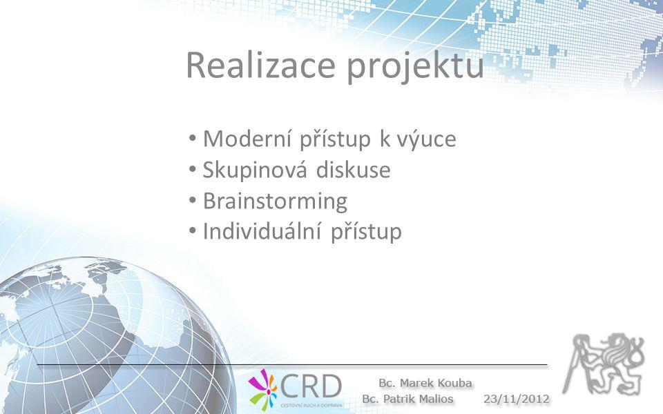 Realizace projektu Moderní přístup k výuce Skupinová diskuse