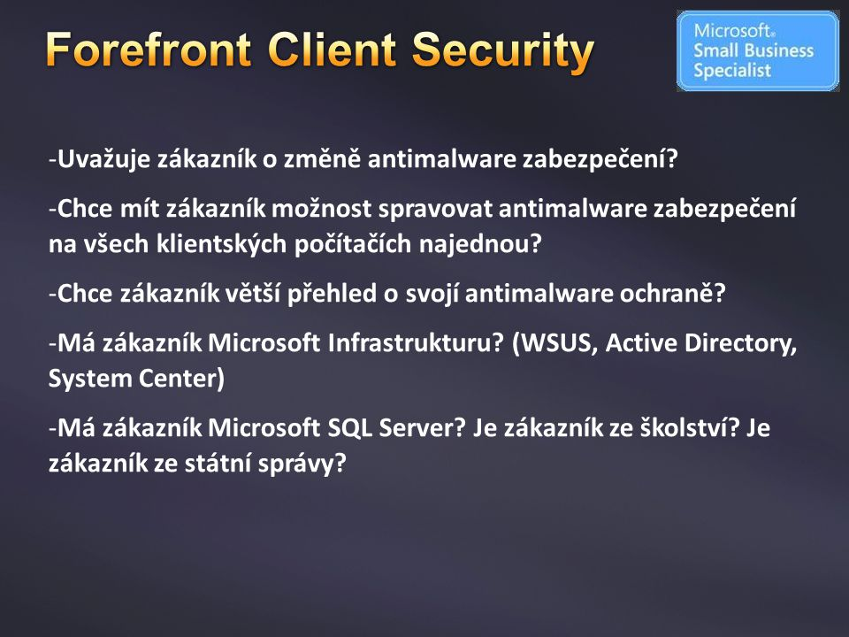 Forefront Client Security