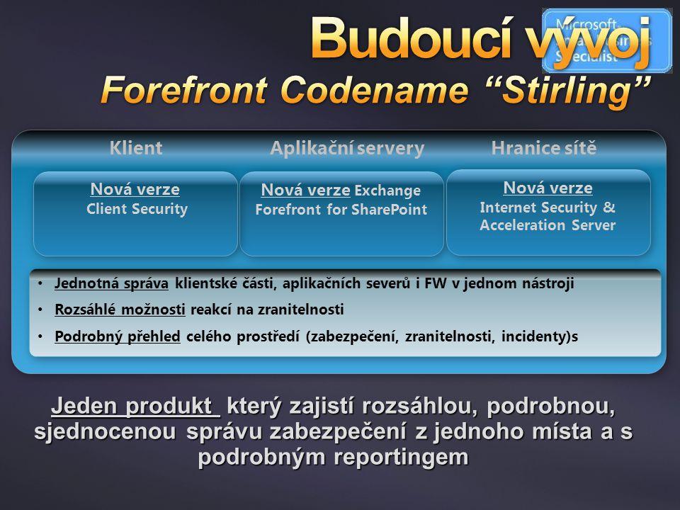 Budoucí vývoj Forefront Codename Stirling