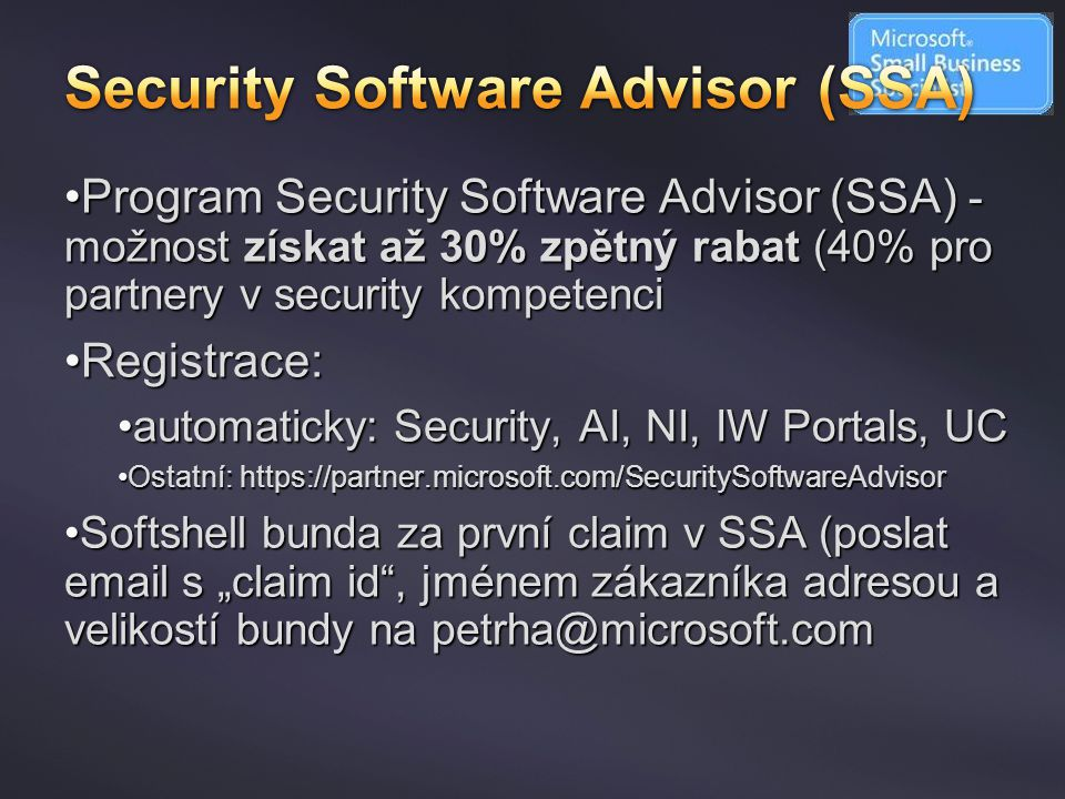 Security Software Advisor (SSA)