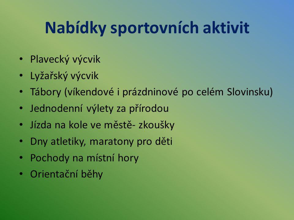 Nabídky sportovních aktivit
