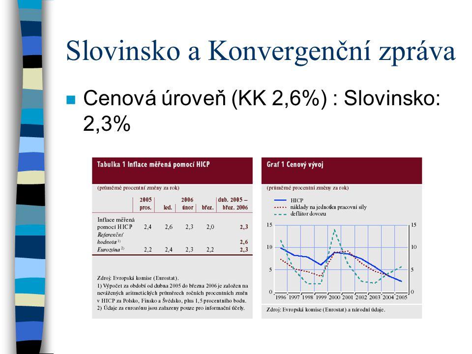 Slovinsko a Konvergenční zpráva
