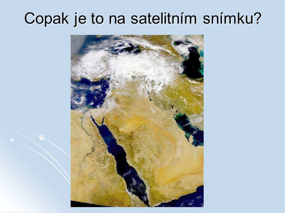 Copak je to na satelitním snímku