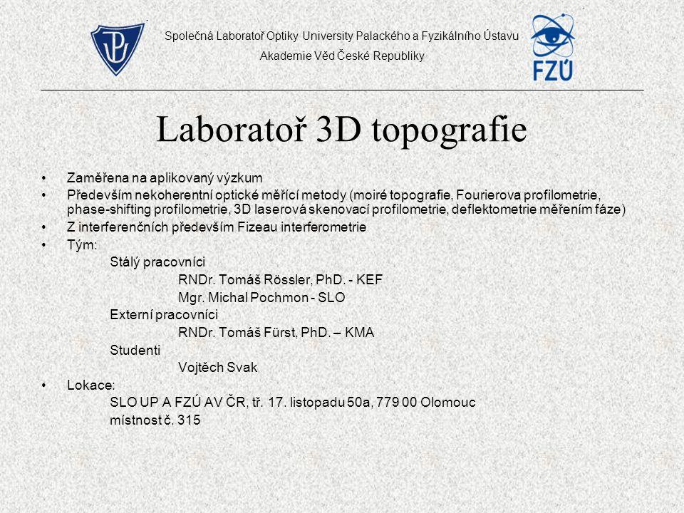 Laboratoř 3D topografie