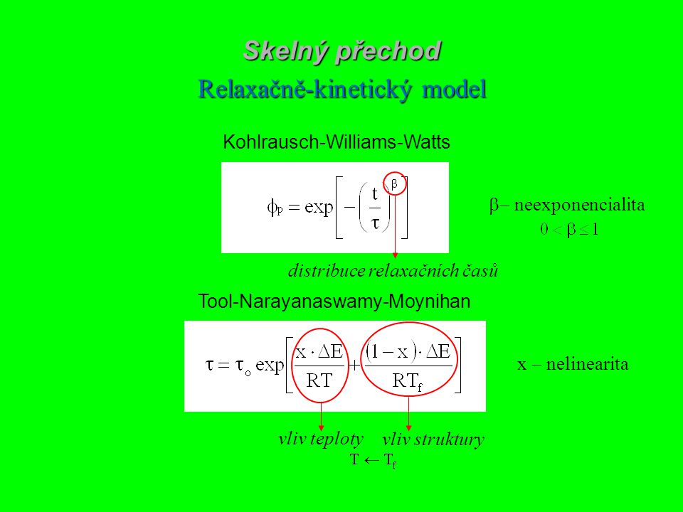 Relaxačně-kinetický model