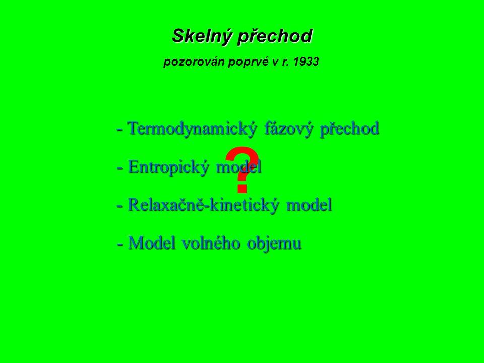 Skelný přechod - Termodynamický fázový přechod - Entropický model