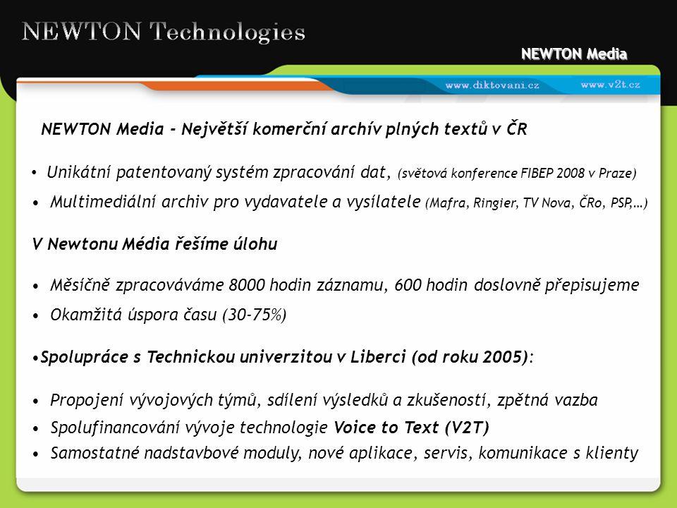 NEWTON Media - Největší komerční archív plných textů v ČR