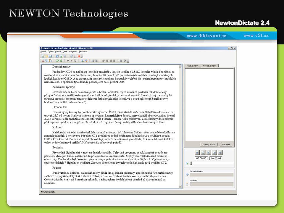 NewtonDictate 2.4
