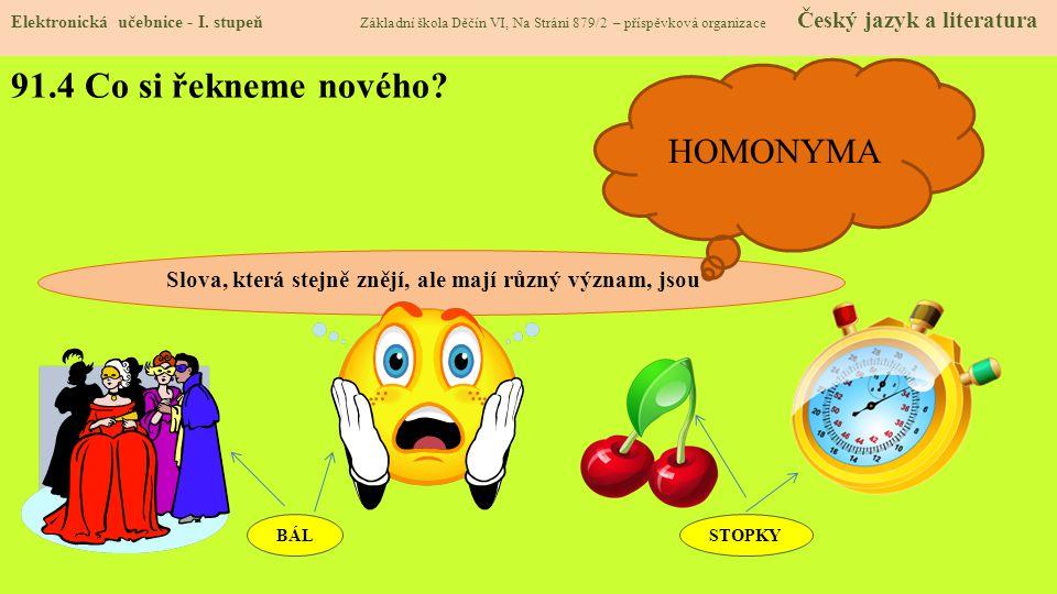 91.4 Co si řekneme nového HOMONYMA