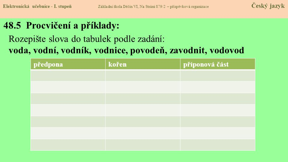 48.5 Procvičení a příklady: