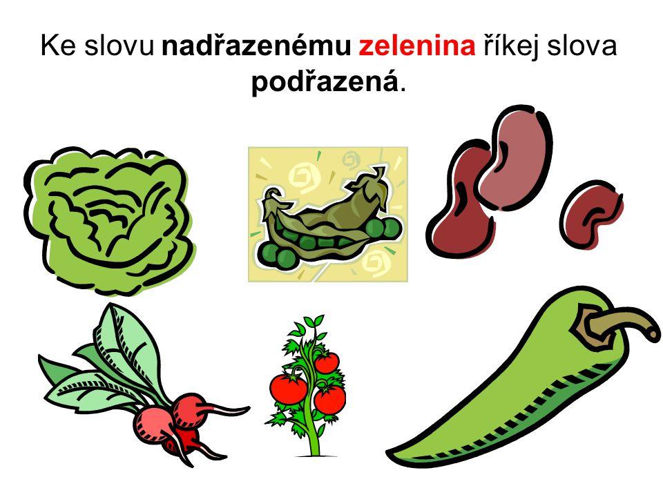 Ke slovu nadřazenému zelenina říkej slova podřazená.
