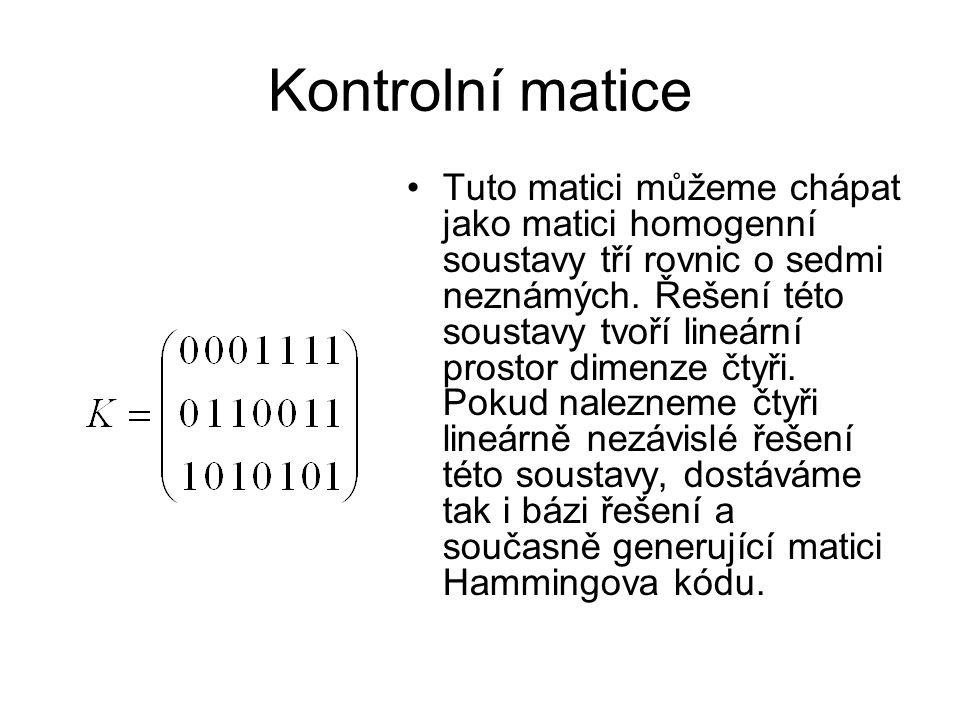 Kontrolní matice