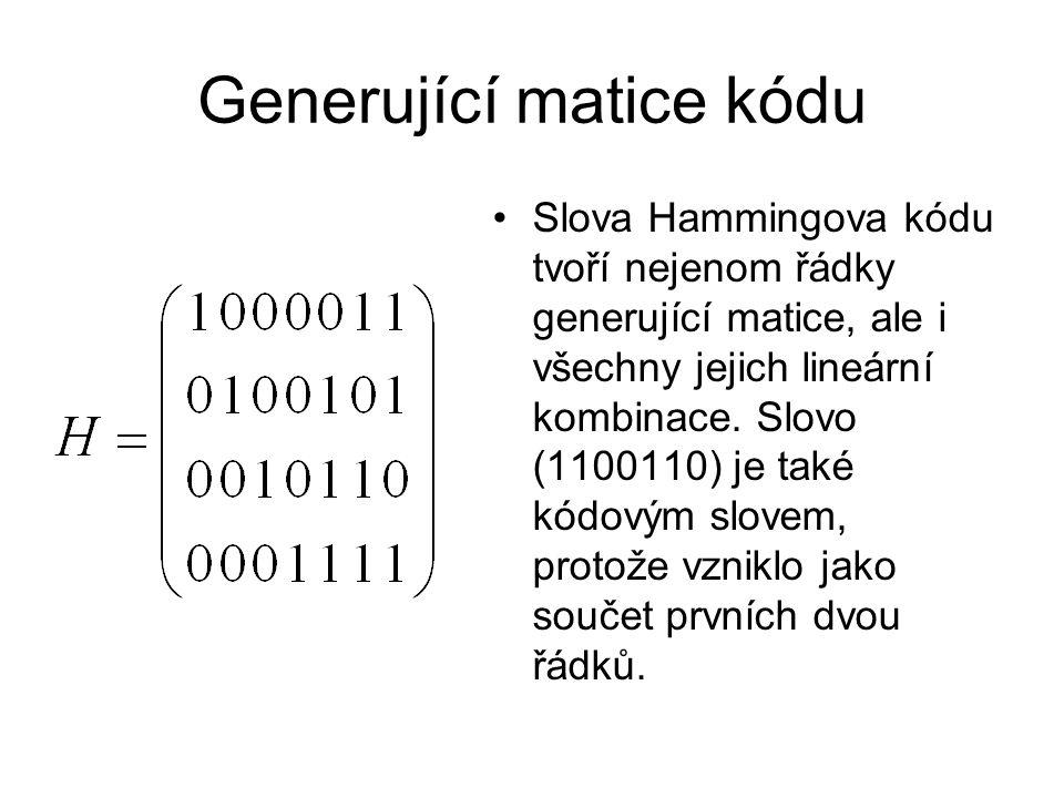 Generující matice kódu
