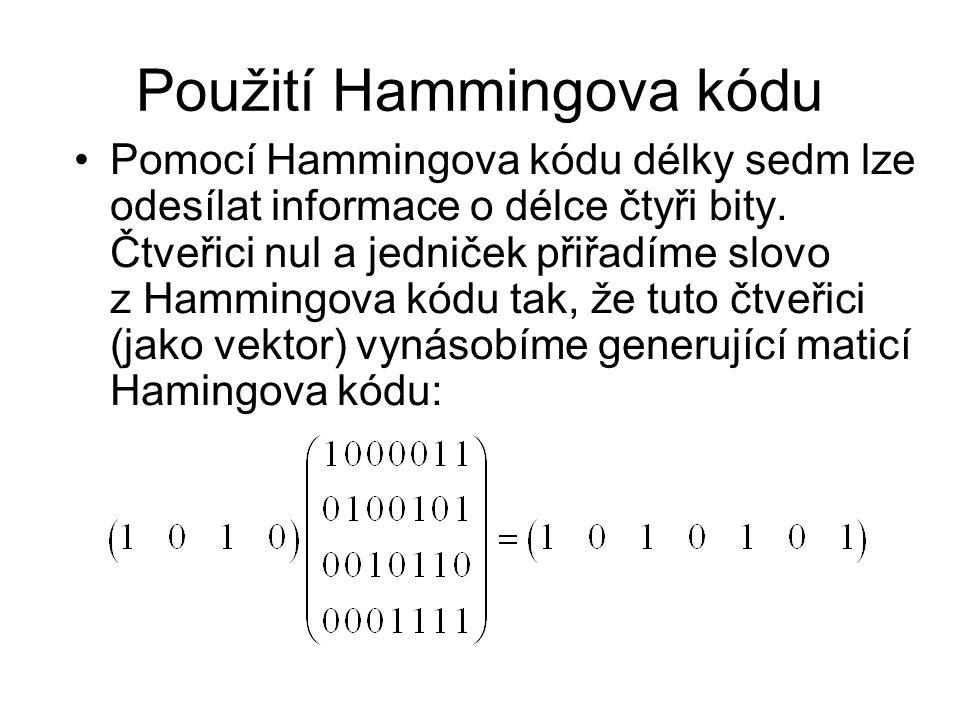 Použití Hammingova kódu