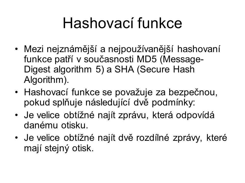 Hashovací funkce