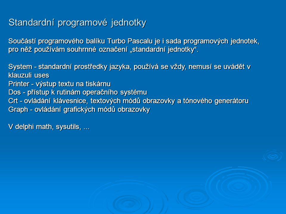 Standardní programové jednotky