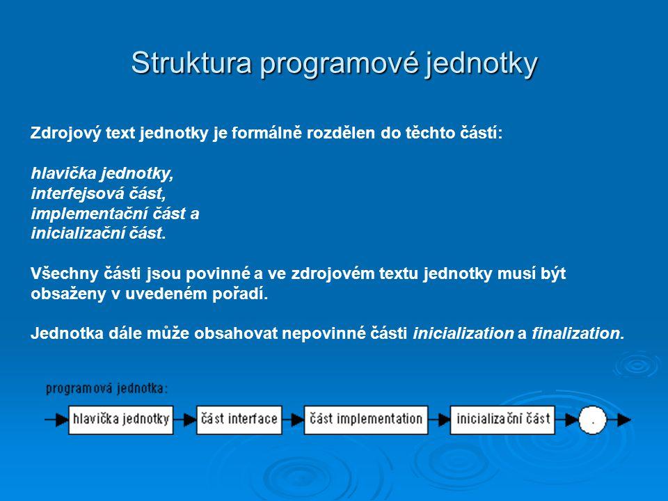 Struktura programové jednotky