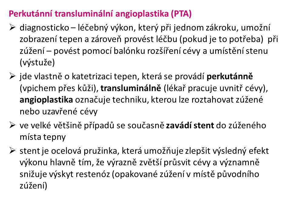 Perkutánní transluminální angioplastika (PTA)