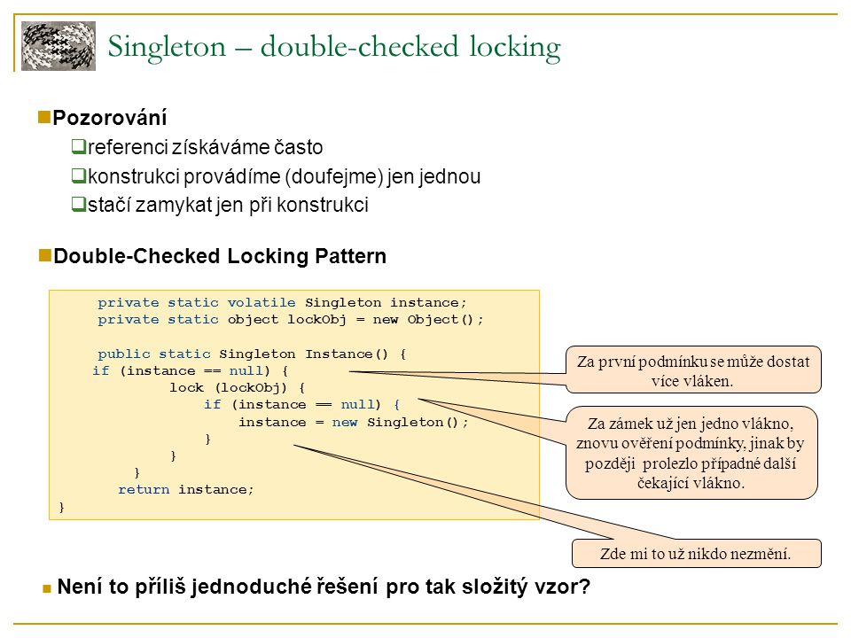 Singleton – double-checked locking