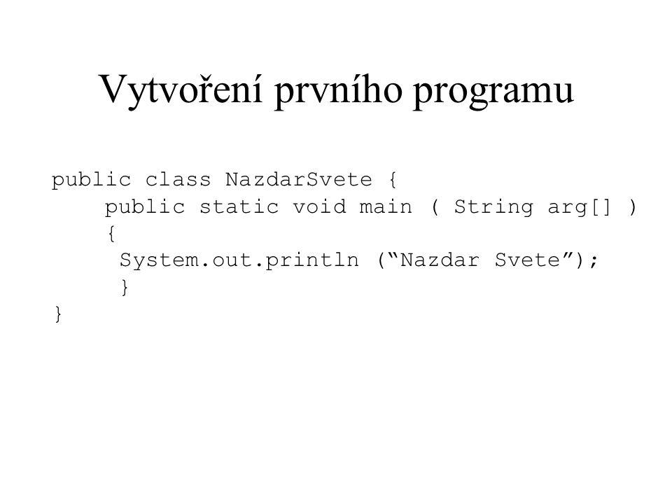Vytvoření prvního programu