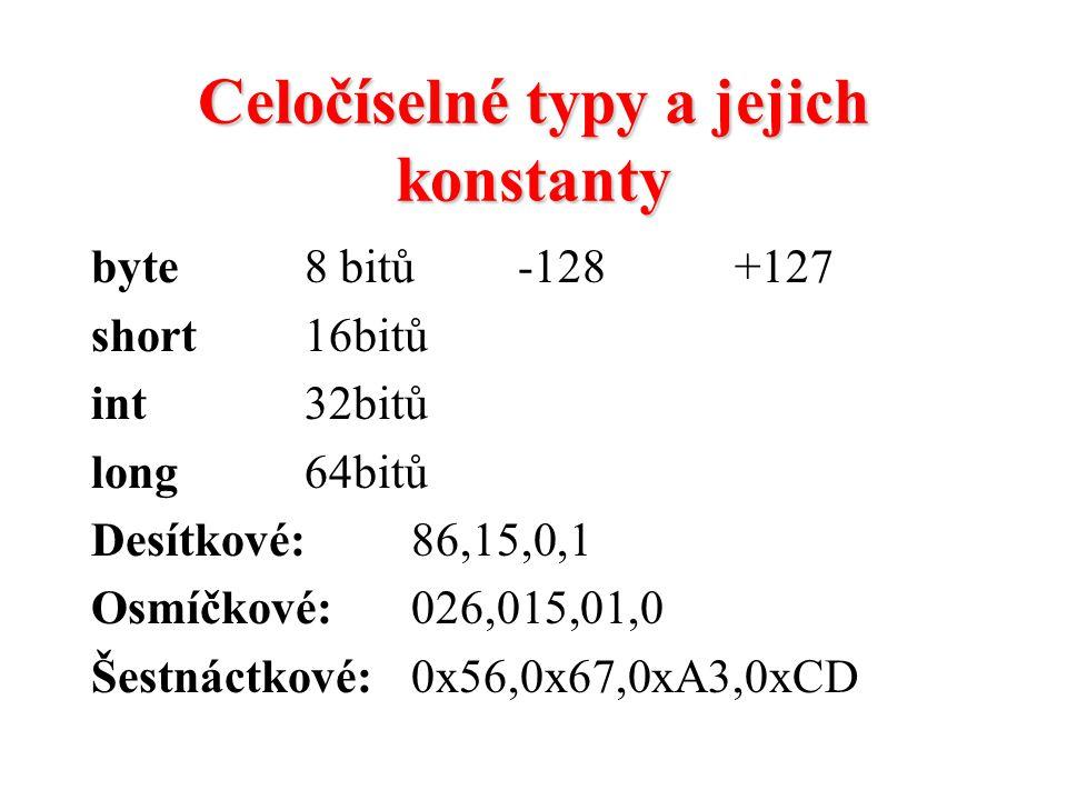 Celočíselné typy a jejich konstanty